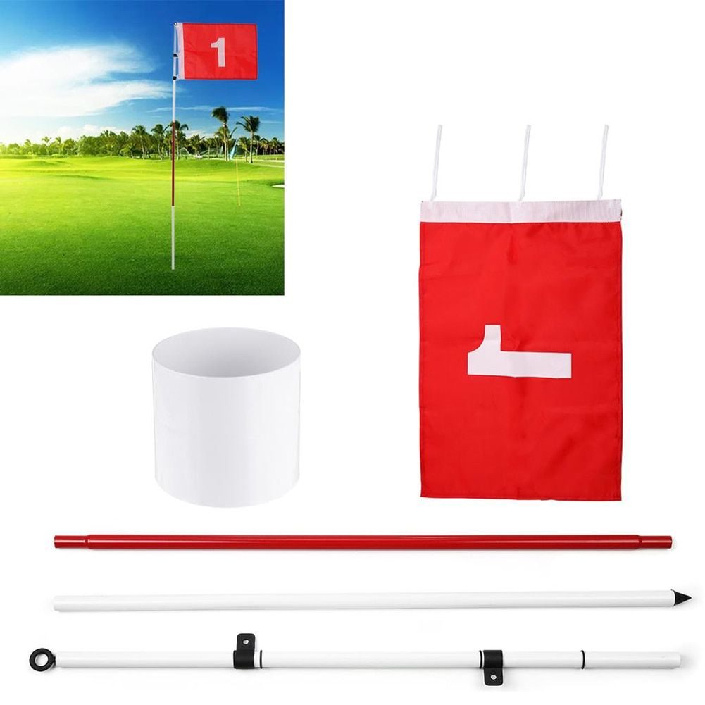 Golf Hole Pole Cup Flag Stick 5 Section Golf Putting Green Flagstick Golf Flag Flagpole Golf Hole Golf Training Equipment Outdoor You Should Know In 2020 Golf Flag Golf Putting Golf Putting Green