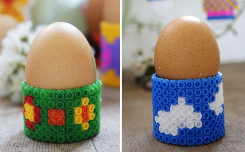 Diy Ostern Bügelperlen Eierbecher Und Osterbilder