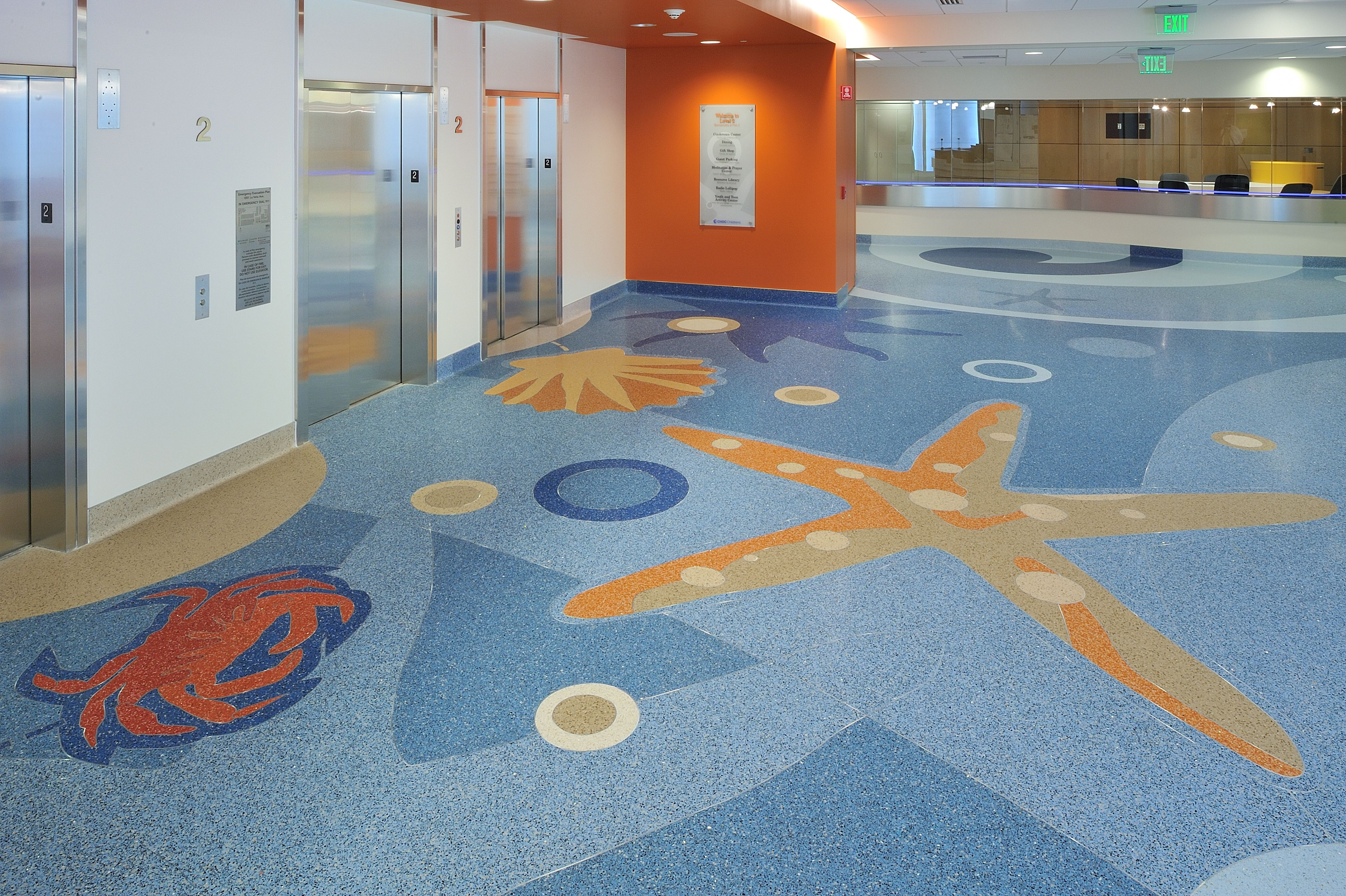 Children's Hospital of Orange County-terrazzo flooring ...