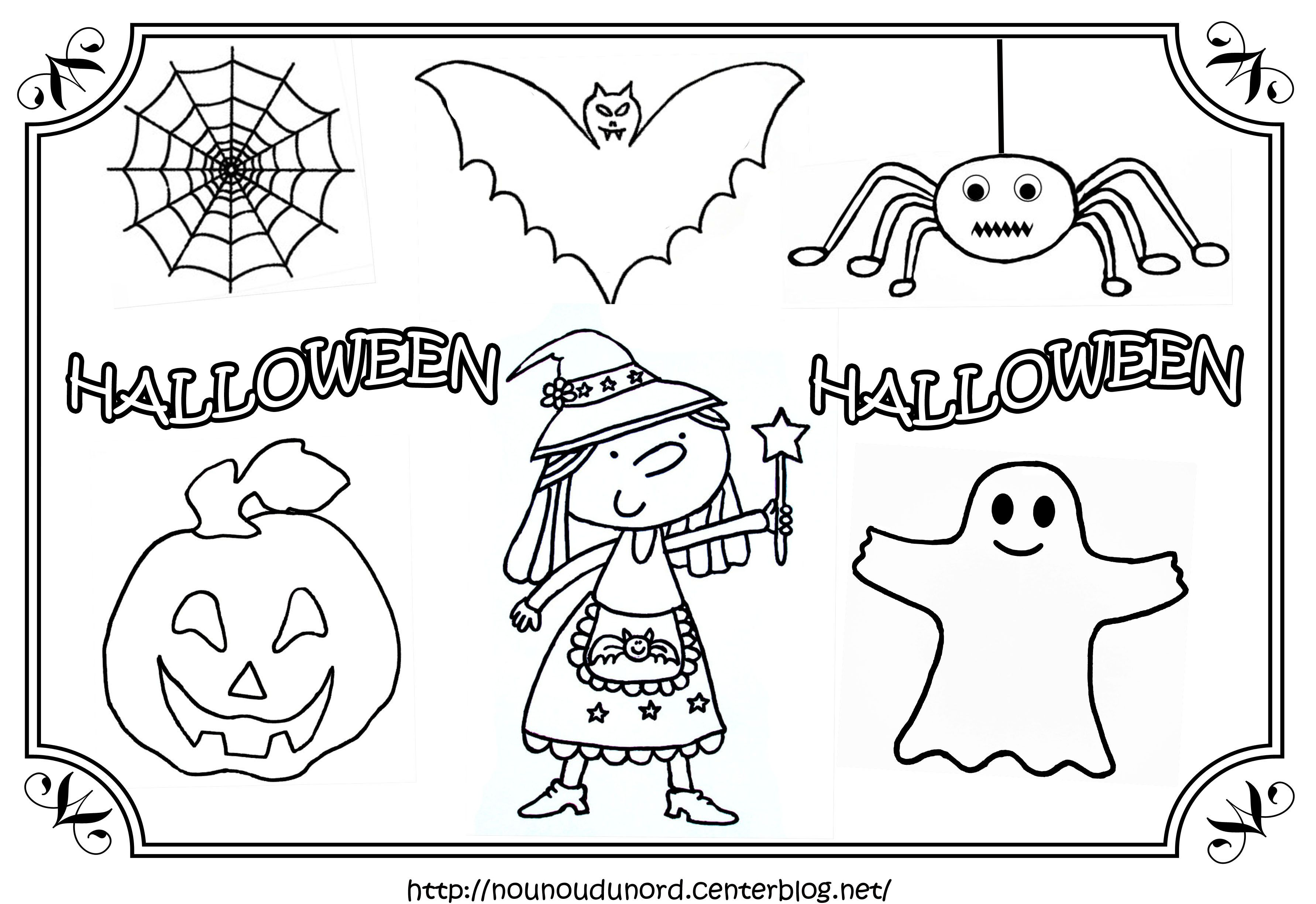 Sélection de dessins de coloriage halloween à imprimer sur