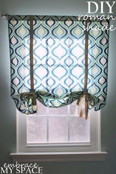 Simple Roman Shade Diy Roman Shades Diy Curtains Diy