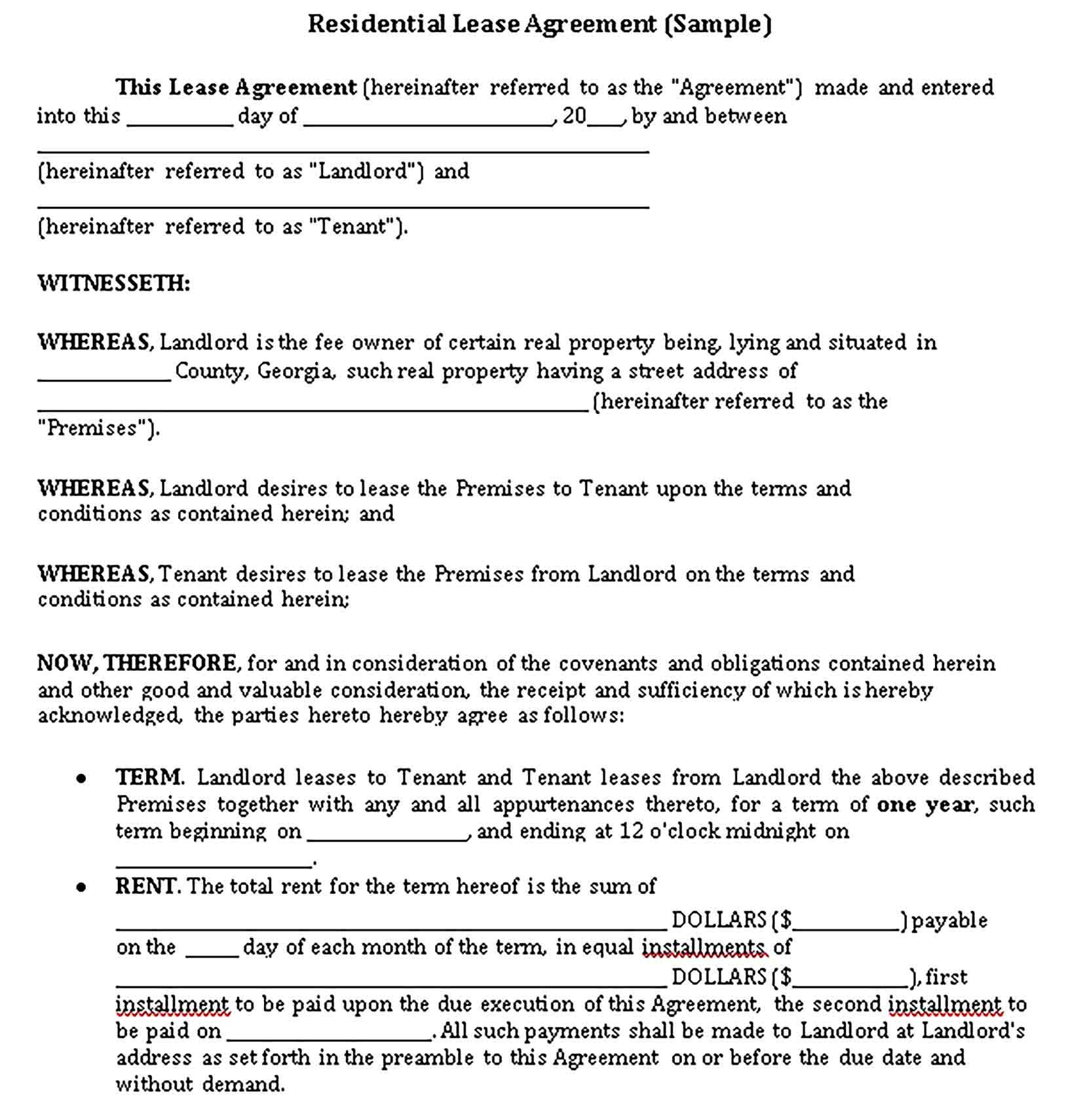 Sample Private Lease Agreement Template Lease Agreement Lease Being A Landlord