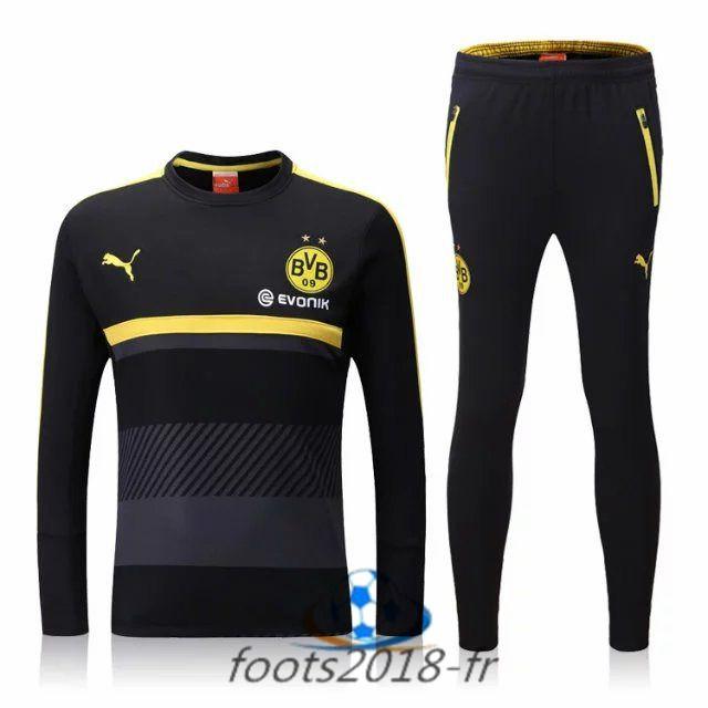 Nouveau Survetement de foot Dortmund BVB Noir 2016 2017