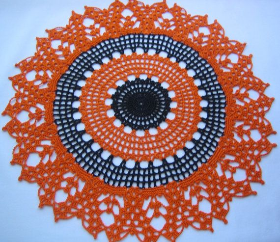 Hand crocheted fall doily new Turkishteam Afatc by DEMET on Etsy, $25.00