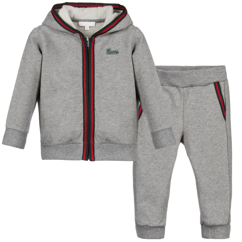 8a499afb9 Gucci Baby Boys Grey Tracksuit at Childrensalon.com