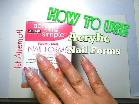 quick easy acrylic nail tutorial  nail design  youtube
