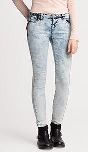 Jeans super skinny en vaqueros - azul claro