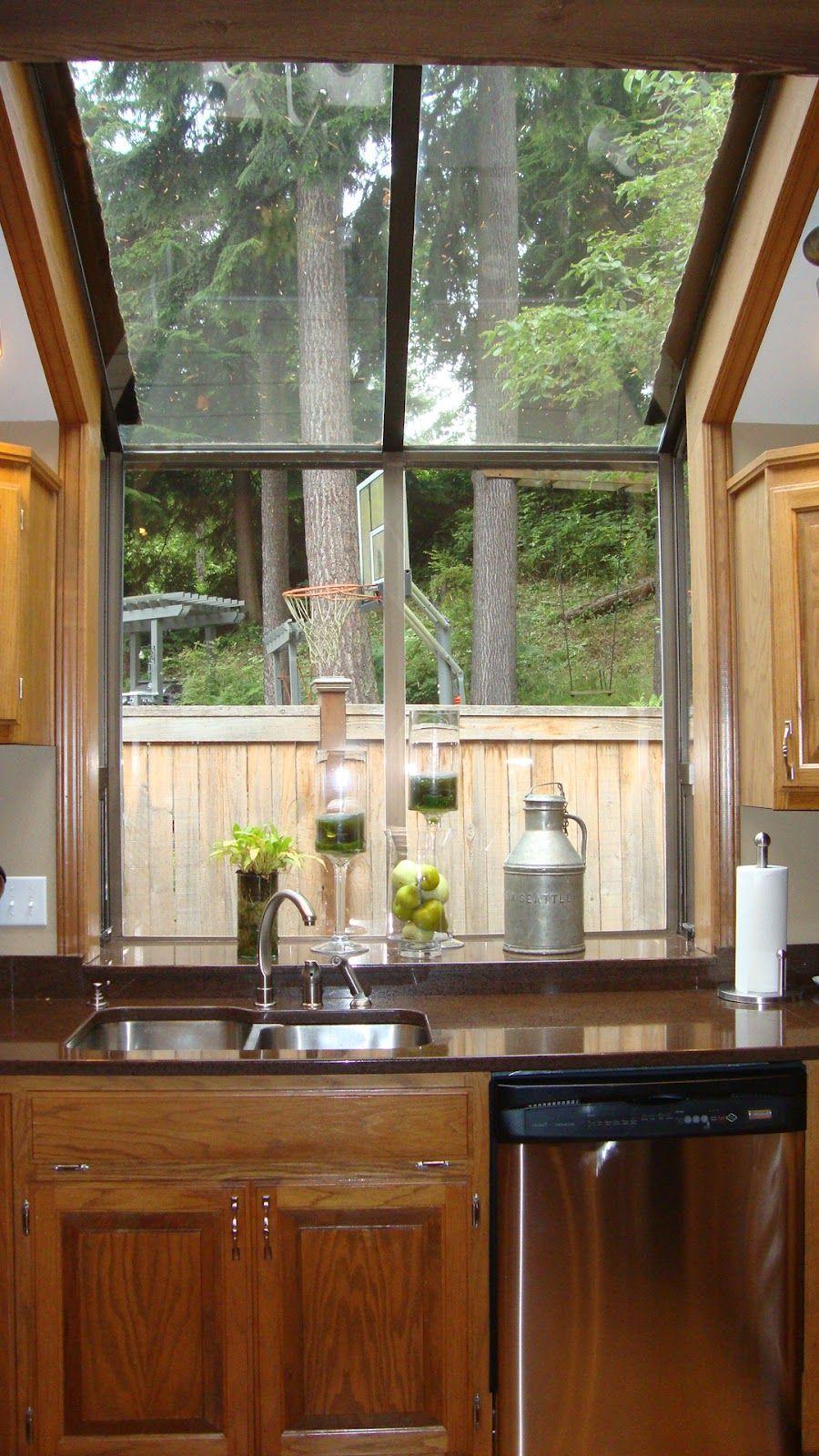 Elegant Small Kitchen Bay Window