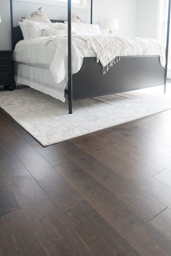 Dark Maple Master Bedroom Hardwood Flooring Hardwood Bedroom Floors Bedroom Carpet Flooring