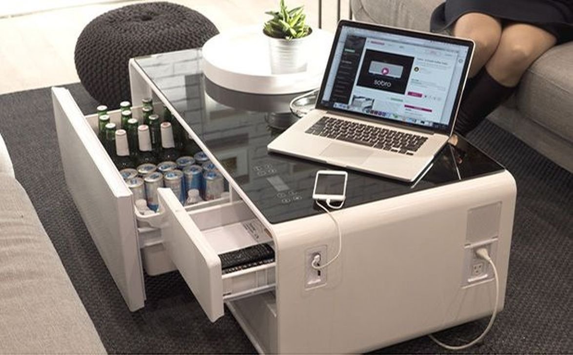 Coffee Table With Refrigerator Useful Tools Store Coffee Table With Storage Smart Table Furniture [ 1500 x 1500 Pixel ]