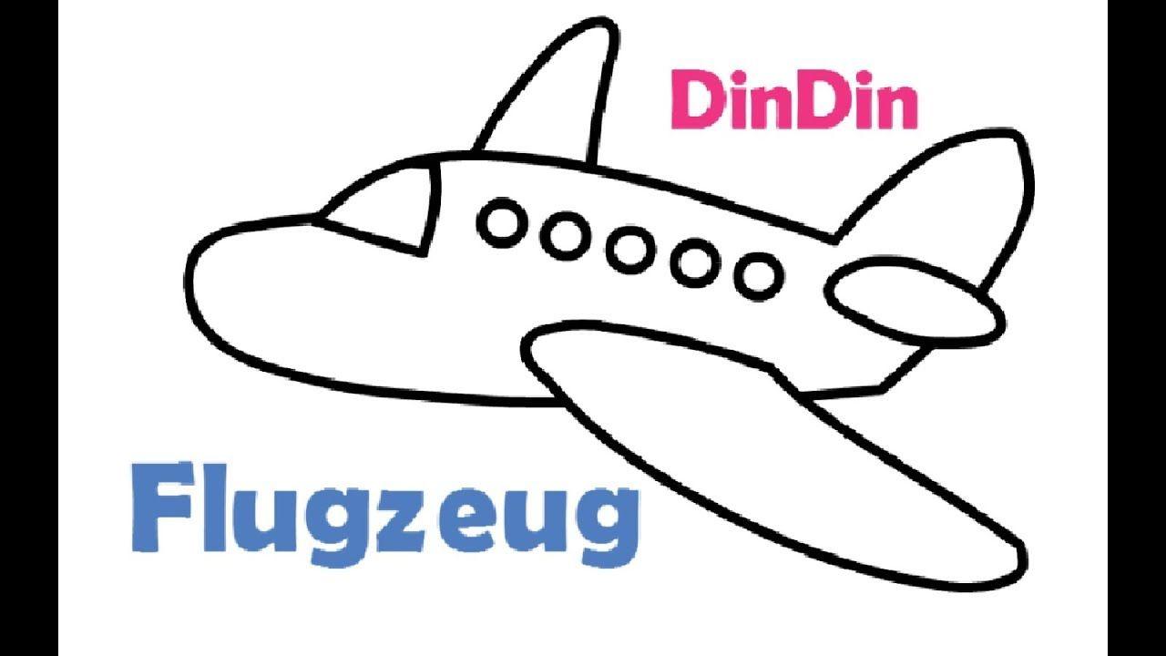 Flugzeug Malvorlagen für Kinder - Flugzeug Zeichnen und Ausmalen