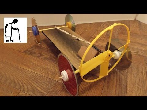 Rubber Band Powered Fan Driven Car Youtube Rubber Band