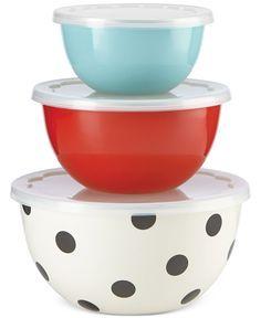 kate spade new york all in good taste Set of 3 Serve and Store Bowls - Kate Spade All In Good Taste - Kitchen - Macy's .