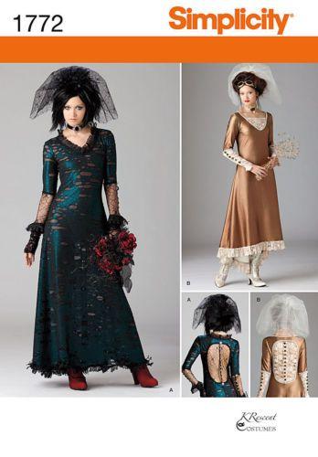 Simplicity 1772 Victorian Steampunk Gothic Dress Pattern Multi Size 12 20 Sass   eBay
