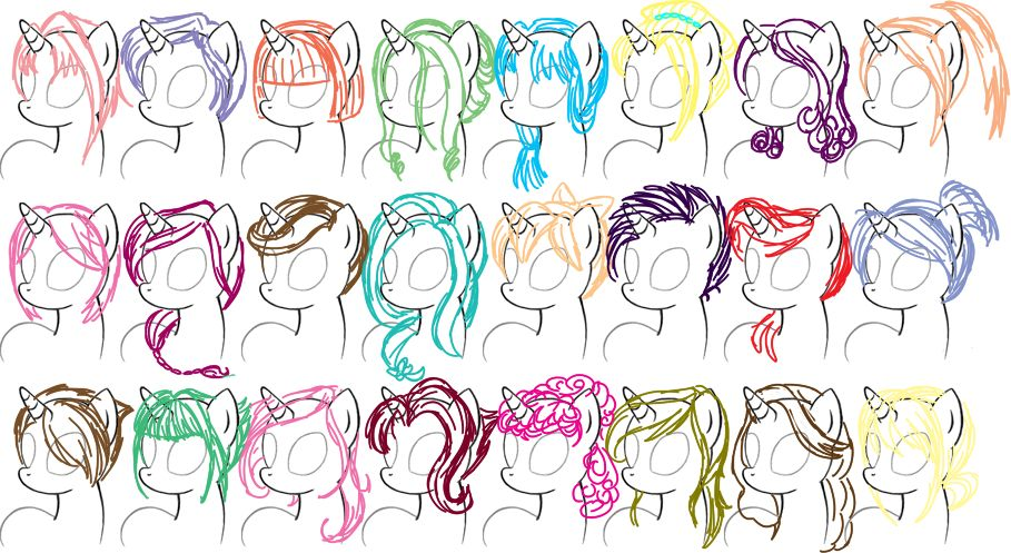 Mlp Mane Styles My Little Pony Drawing Pony Drawing How To Draw Hair