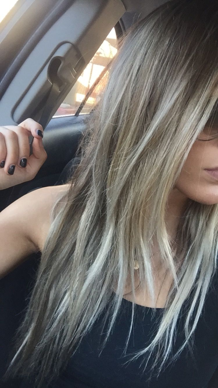Ashy Blonde Brown With Highlights Looks Low Maintenance With Images Dark Roots Blonde Hair Balayage Hair Hair Styles