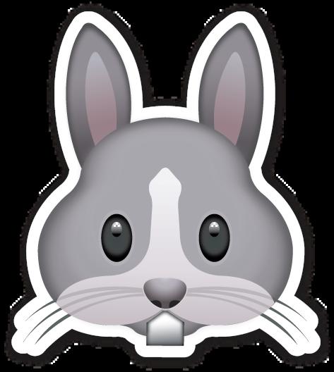 Rabbit Face Emoticones Emoji Emojis Dibujos De Animales