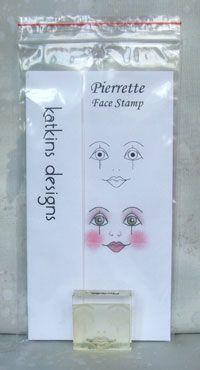 """Pierrette"" Face Stamp"