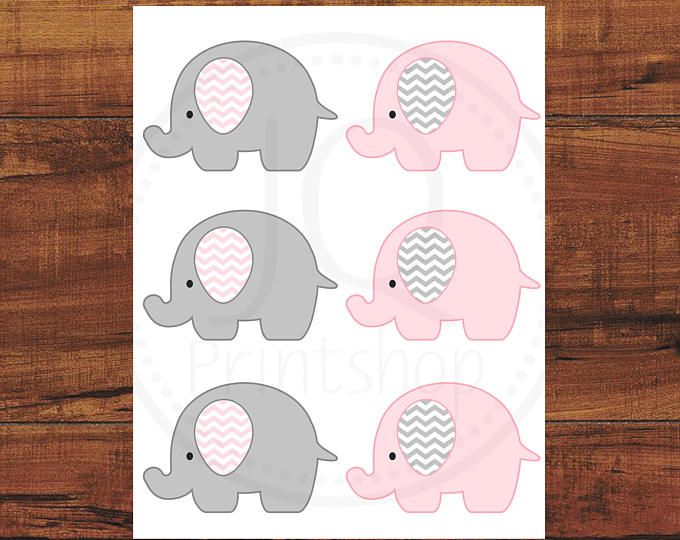 Pink Elephant Baby Girl Shower Printable Party Kit with girl baby ...