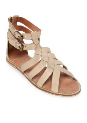 d8c955c26863 Naughty Monkey Nude Cilani Knotted Gladiator Sandals