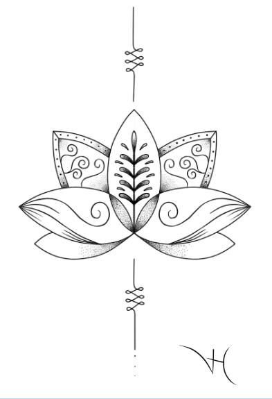 Flor De Lotus Mandala Tatuagens Femininas Flores