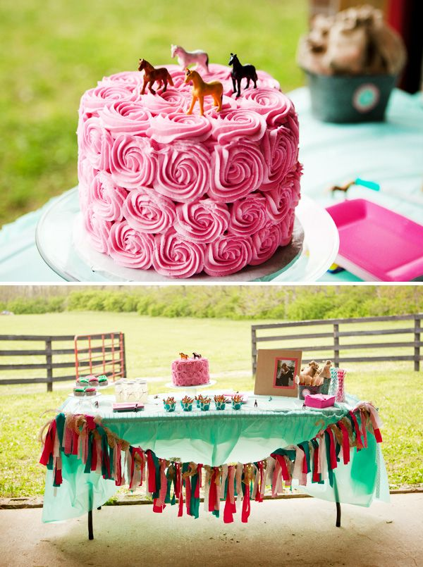 """I think I want that one!""  horse themed birthday party 