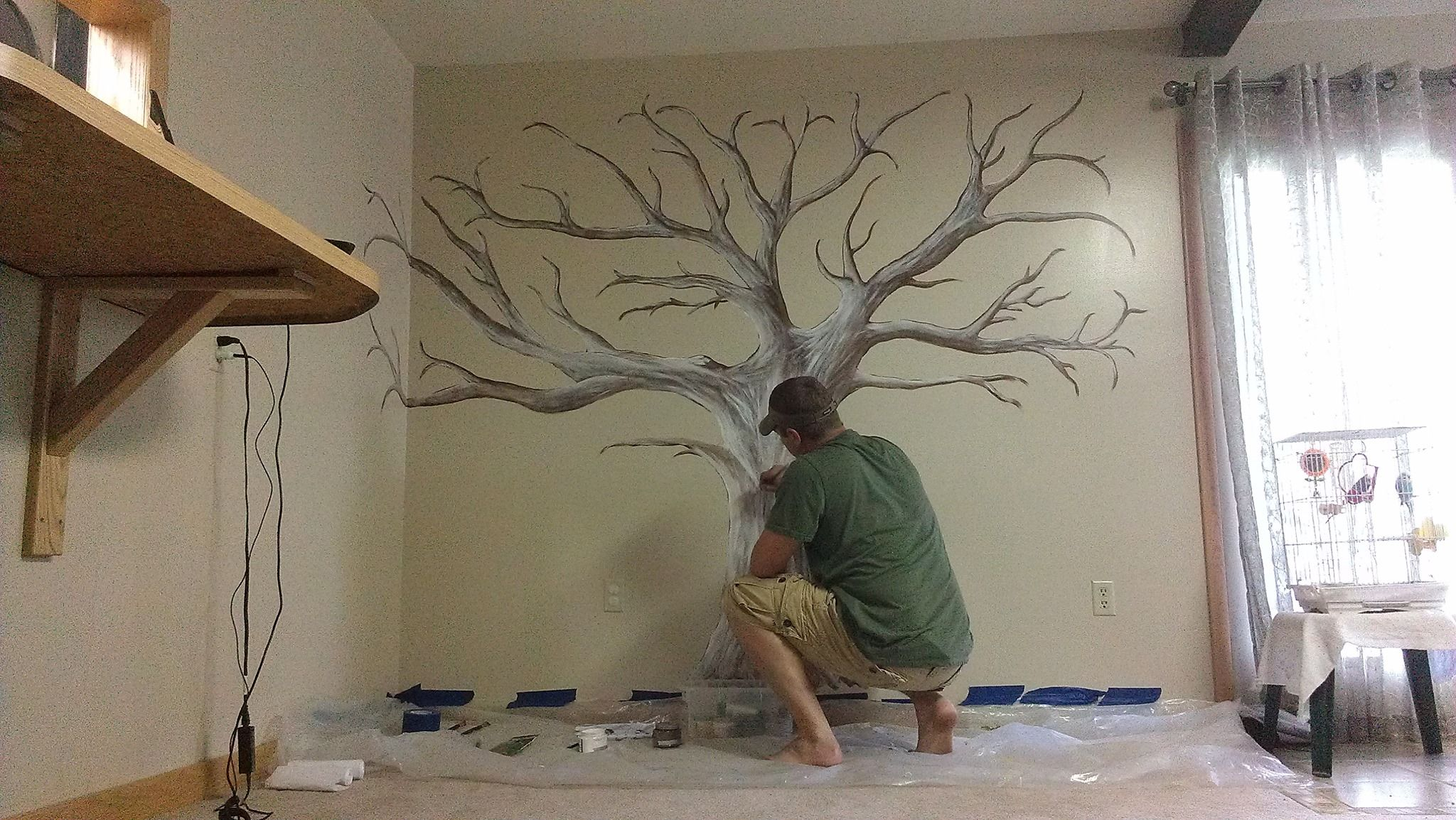 Hand Painted Family Tree Mural
