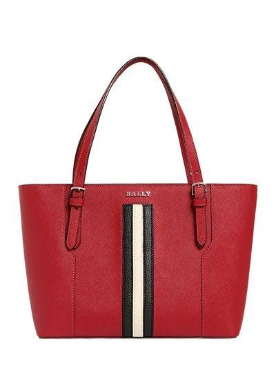 5255c1ff8678 BALLY Supra Saffiano Leather Tote Bag