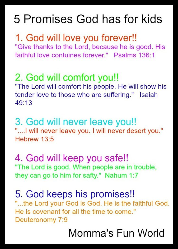 Funny Bible Quotes Momma's Fun World Teaching The Promises Of God To Kids  Kid .