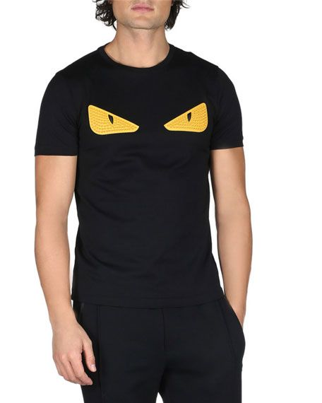 e8770556 FENDI Monster Eyes Crewneck T-Shirt, Black. #fendi #cloth # | Fendi ...