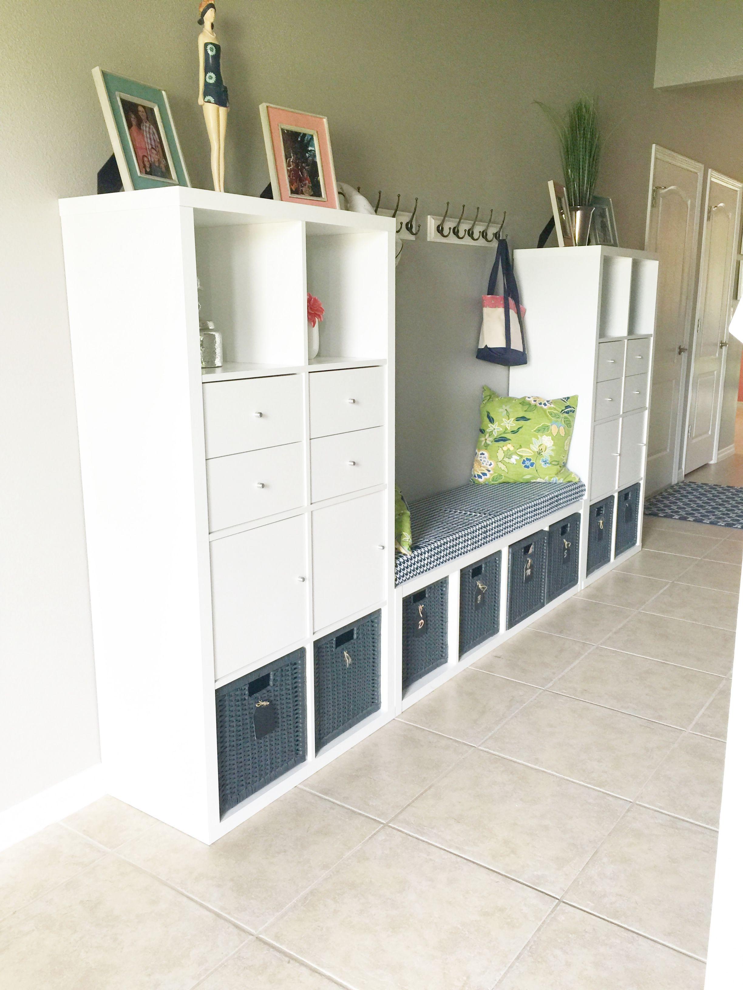 Ikea Hack Kallax Bench And Storage Diy Tutorial Foyer Storage