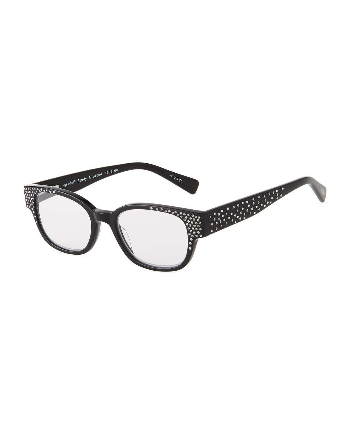 5a8f6d80a09 EYEBOBS STUDY ABROAD SQUARE ACETATE READING GLASSES