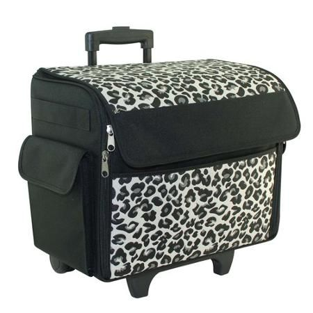 Everything Mary Rolling Sewing Machine Tote Cheetah Singer Sewing Machine Sewing Machine