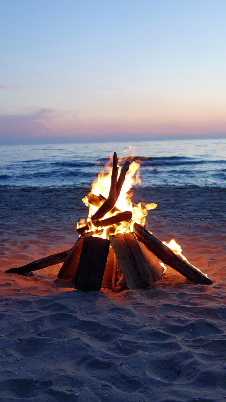 Api Unggun Beach Fire Fire Photography Nature Photography