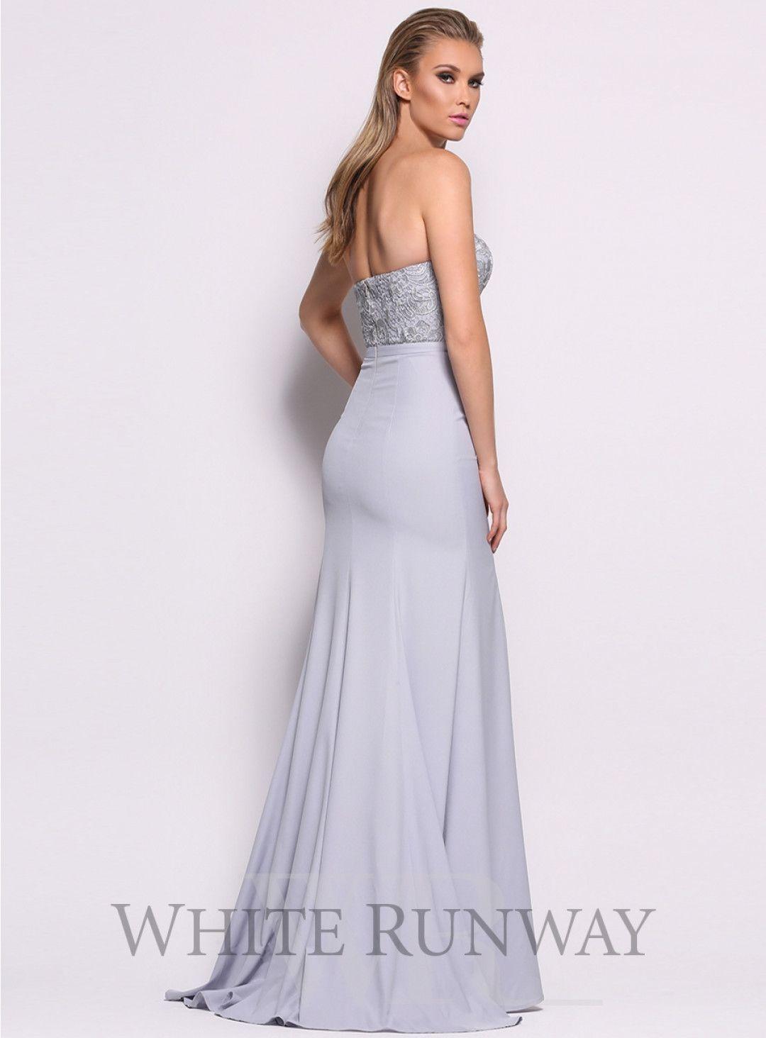 Blue louisa dress an elegant floor length gown by elle zeitoune a