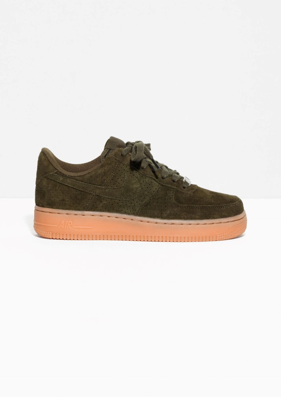 green suede air force ones