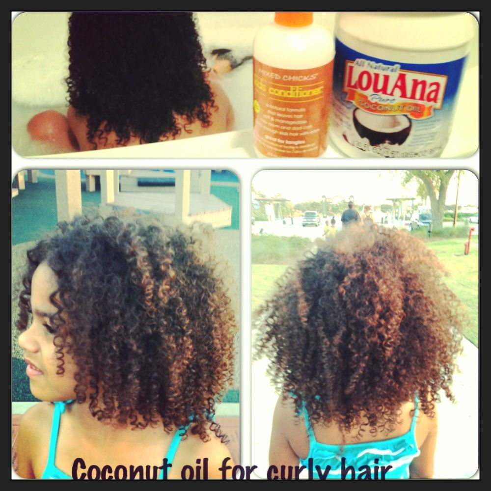 Natural Curly Hair After Conditioned With Coconut Oil Followed By Mixed Chicks Hair Produc Coconut Oil Hair Coconut Oil Hair Growth Curly Hair Styles Naturally