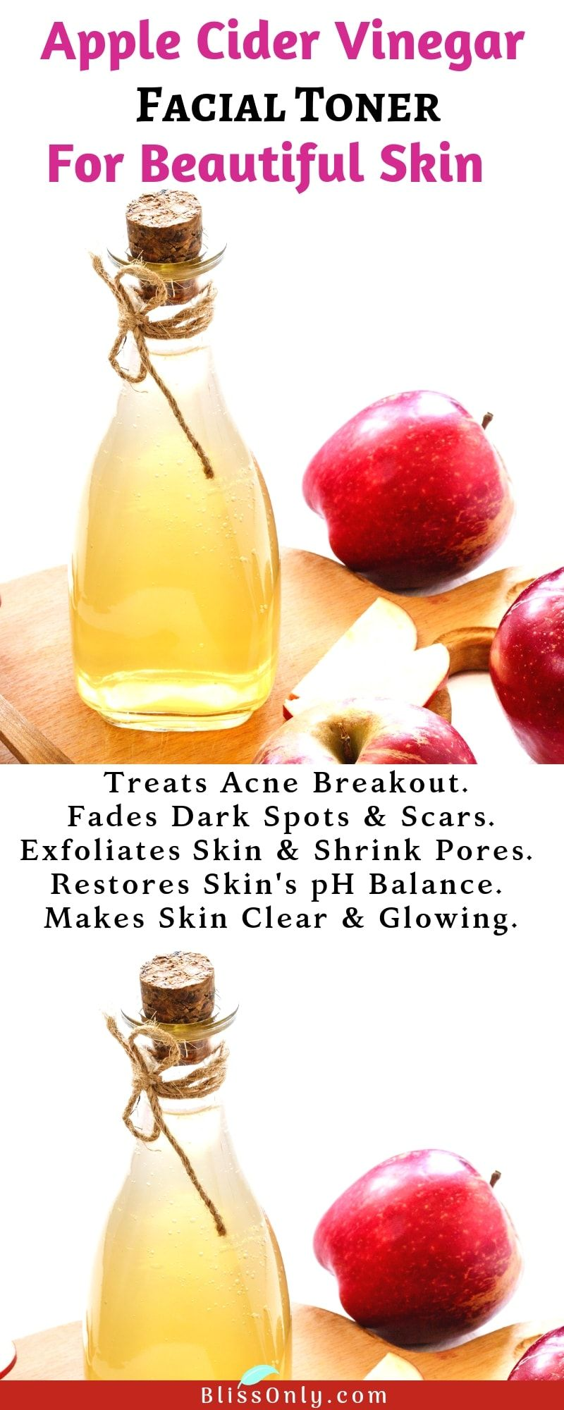 Diy apple cider vinegar face toner apple cider vinegar