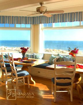 Cape Cod Dining Room Overlooking The Pacific Ocean
