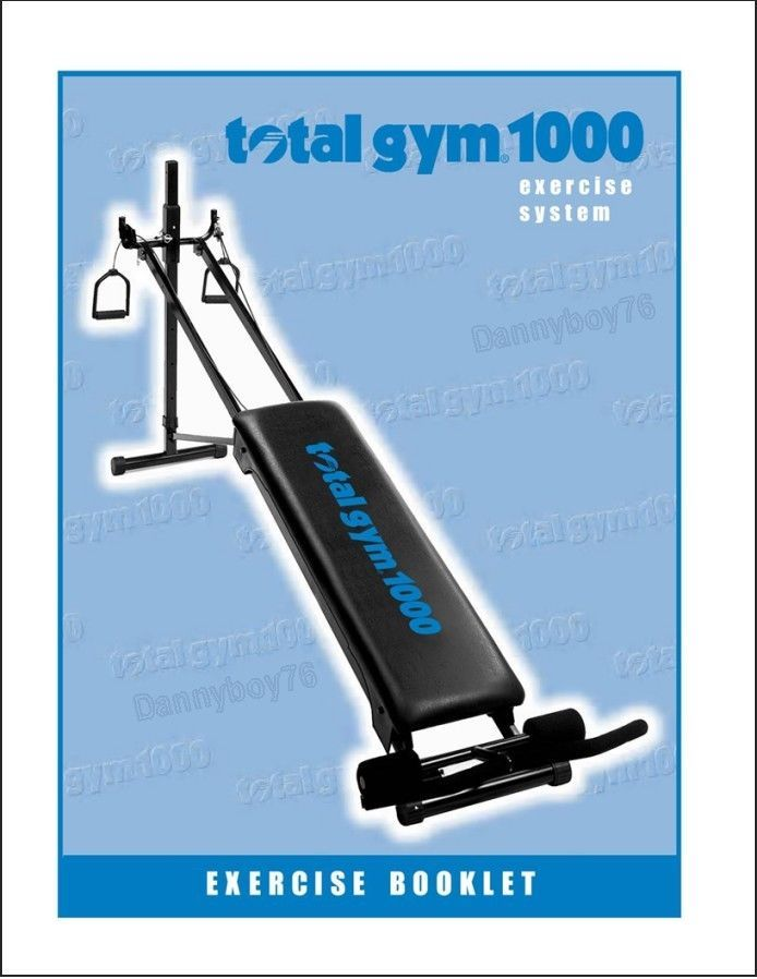total gym 1000 exercise booklet manual with 200 photos amp charts rh pinterest com total gym 1000 exercise manual total gym 1000 exercise manual free download