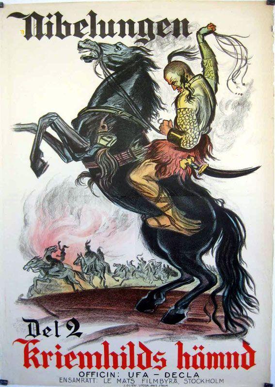 Die nibelungen Kriemhildu0027s revenge (1924) - Fritz Lang Movie - poster für die küche