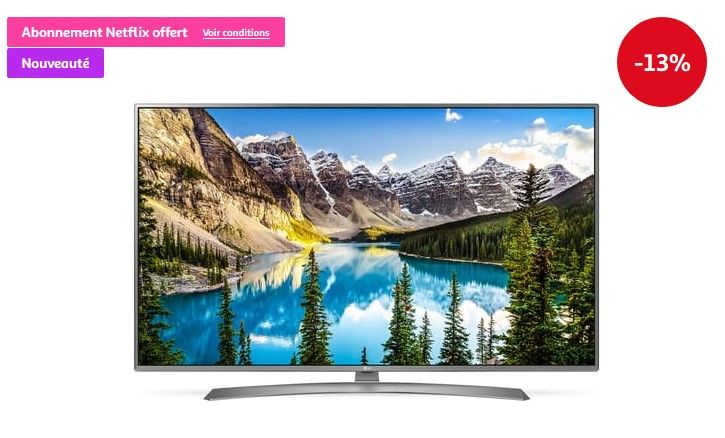 eda0c1858a4 LG 43UJ670V Téléviseur LED 4K UHD HDR pas cher prix Téléviseur 4K Auchan  699.00 € TTC