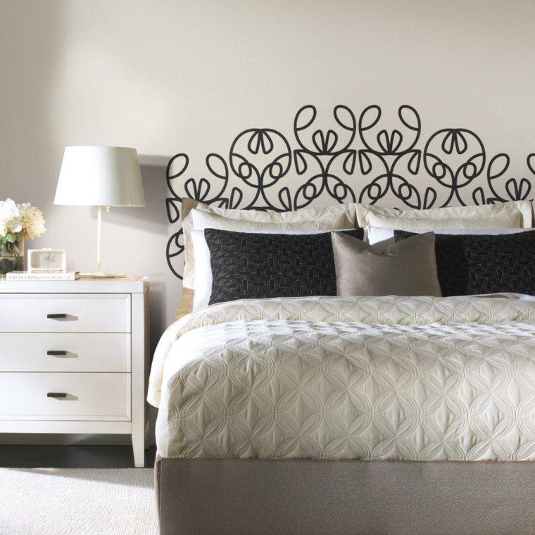 comment fabriquer une tête de lit originale | tete de, dessin mur ... - Comment Dessiner Sur Un Mur De Chambre