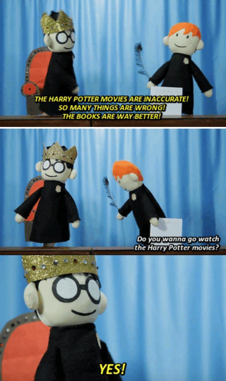 Every Harry Potter Fan Harry Potter Puppets Harry Potter Puppet Pals Potter Puppet Pals
