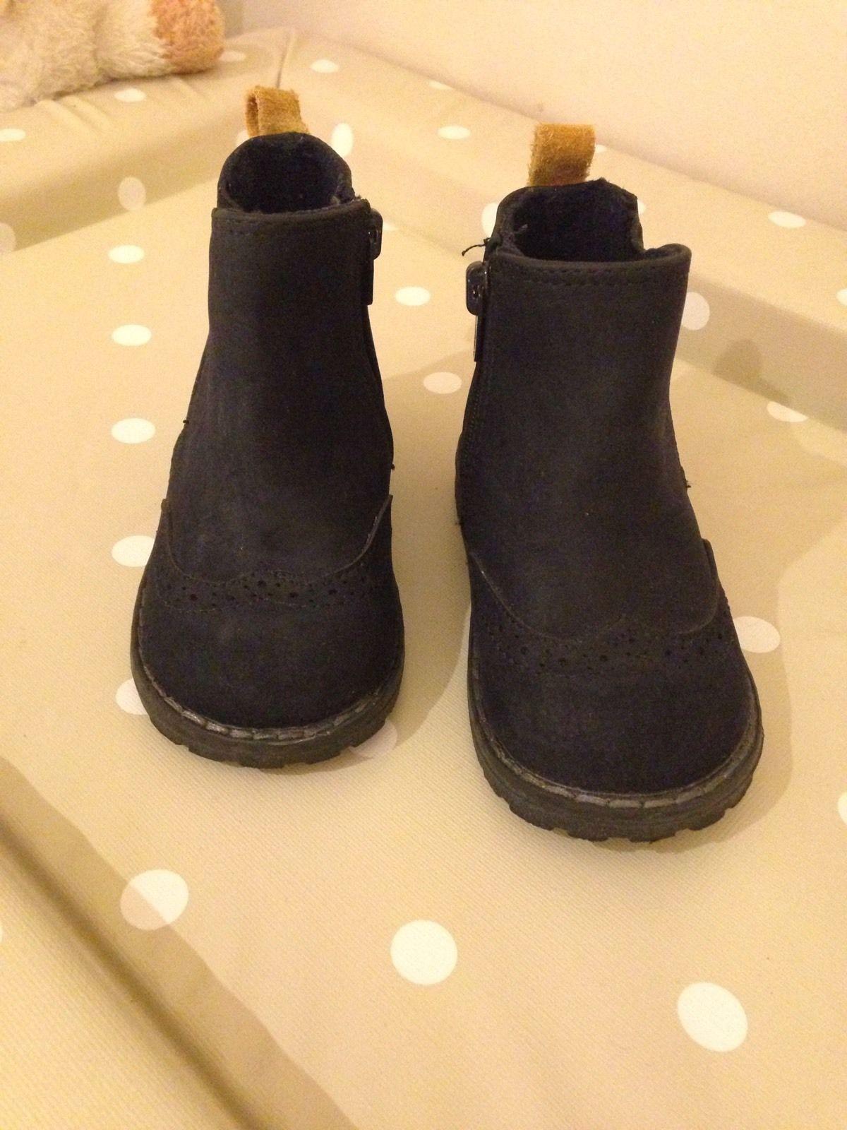 Zara Size 3 Baby Toddler Boy Navy Chelsea Boot Shoe Bundle