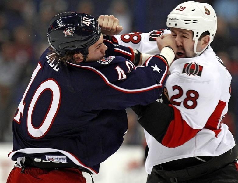Nhl Hockey Fights Blue Jackets Hockey Columbus Blue Jackets Hockey Fights