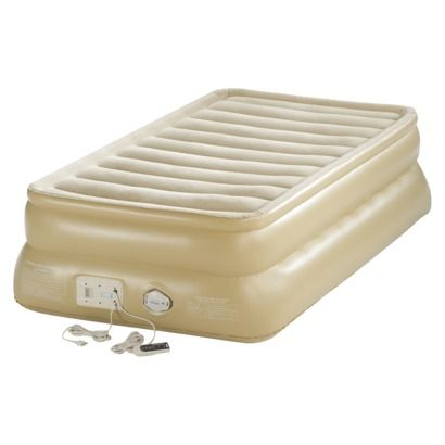 Intex 64443e Inflatable Prime Comfort Elevated Twin Airbed With Built In Pump Air Mattress Air Bed Air Mattress Camping