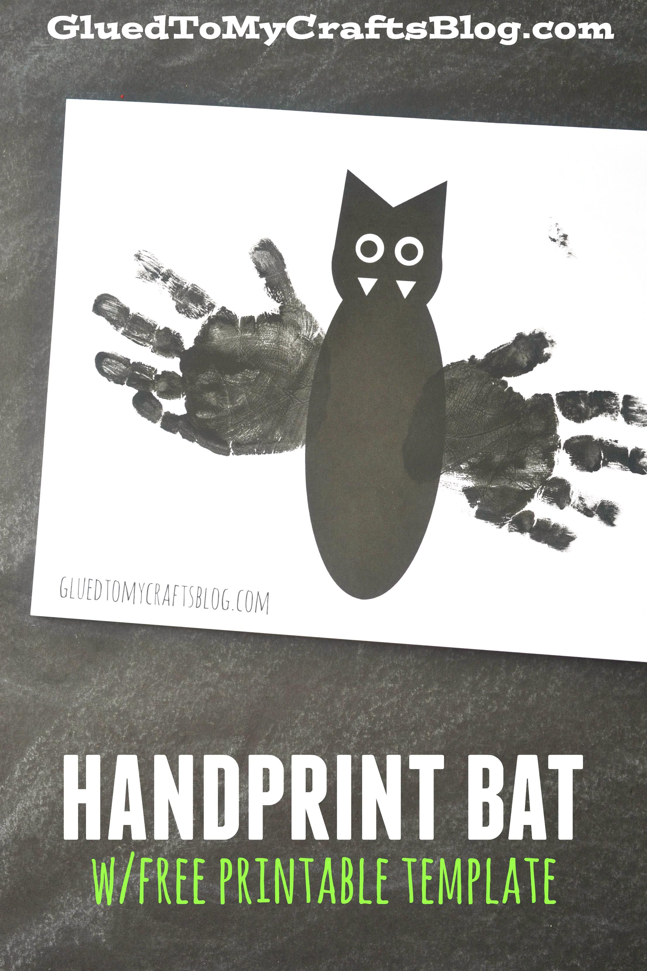 Handprint Bat w/Free Printable Template | Keepsake crafts, Free ...