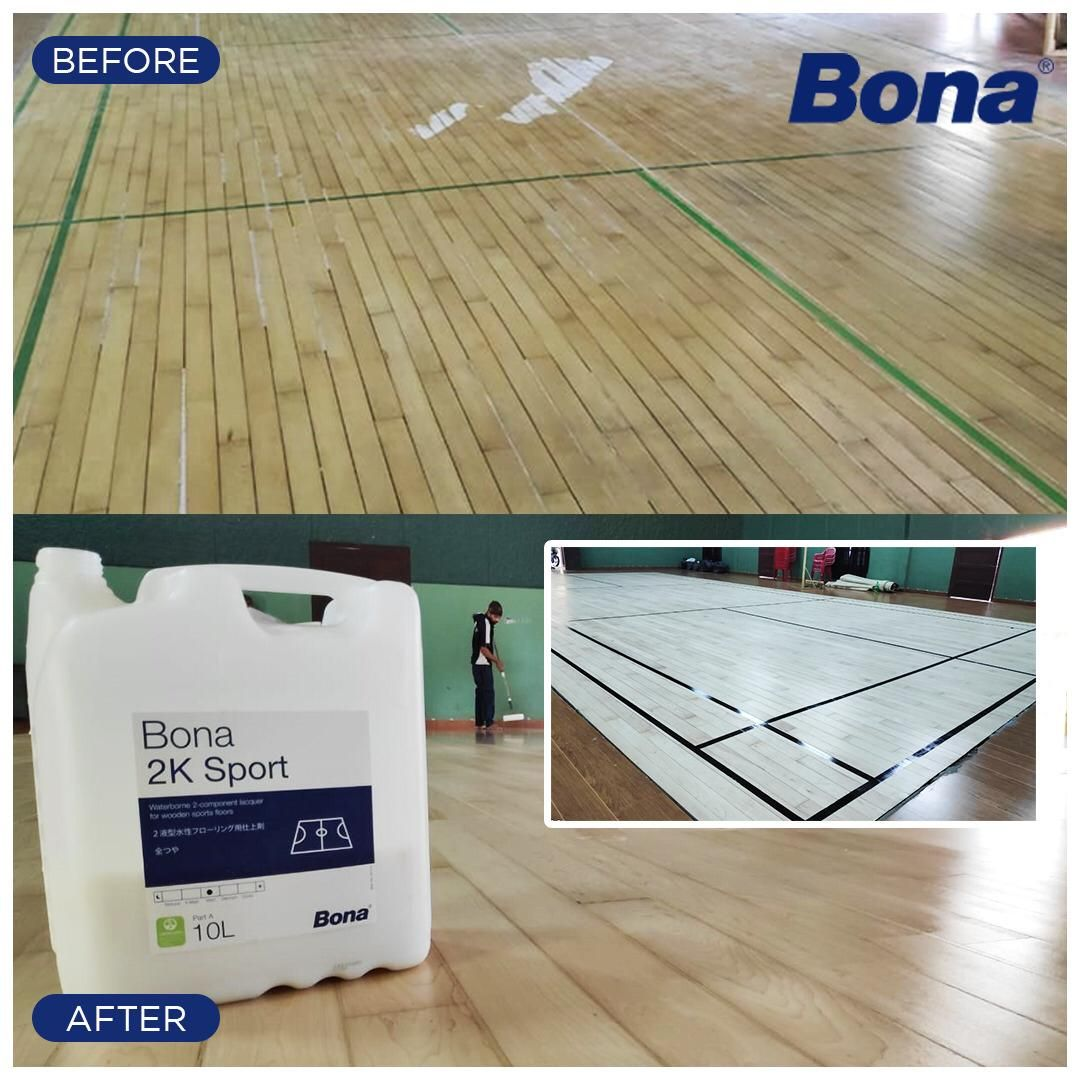 Bona 2k Sport The Right Wooden Floor Finish For Your Floors High Resistance To Wear And Scuff Marks Wooden Flooring Floor Renovation Refinishing Floors