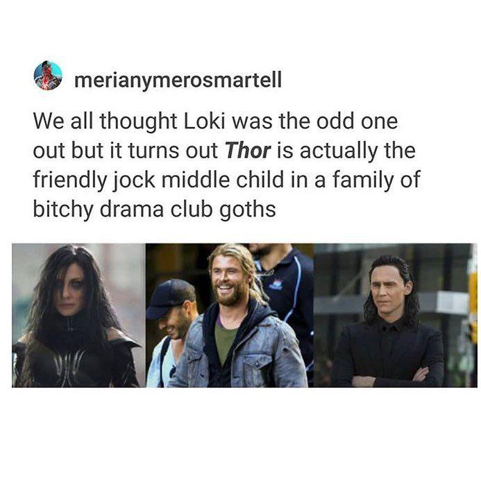 Thor: Ragnarok #middlechildhumor